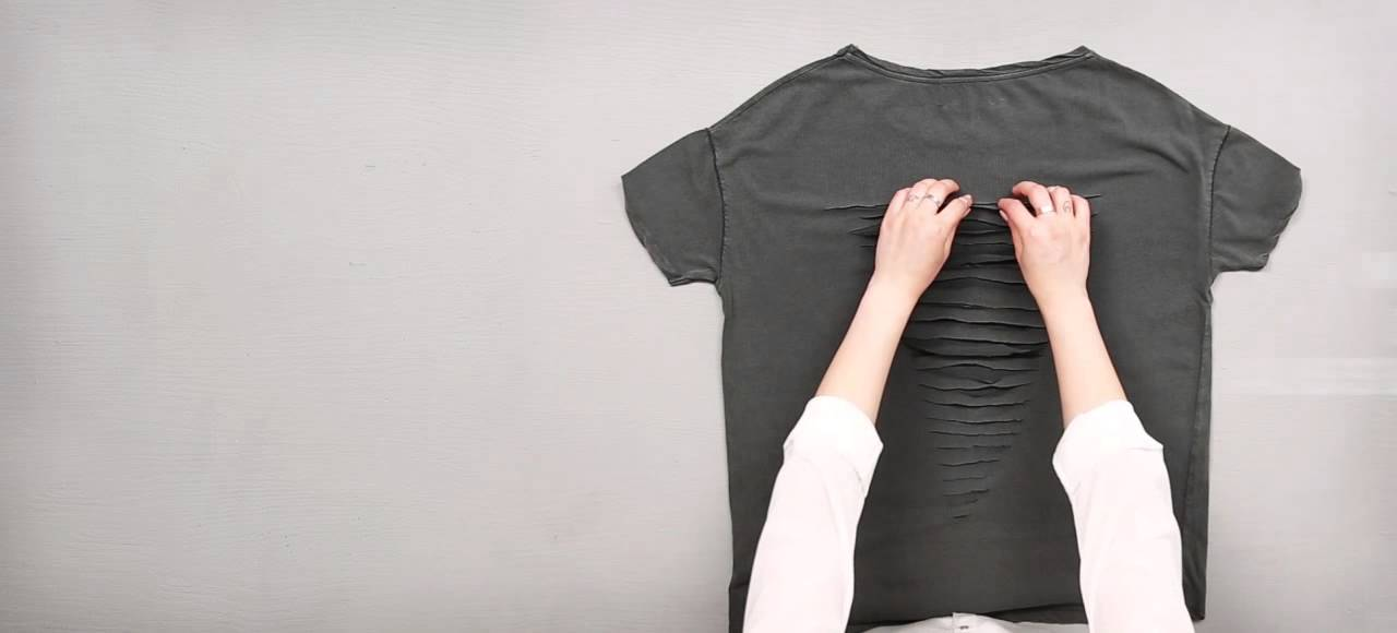 diy tutorial special grunge shirt mit nieten. Black Bedroom Furniture Sets. Home Design Ideas
