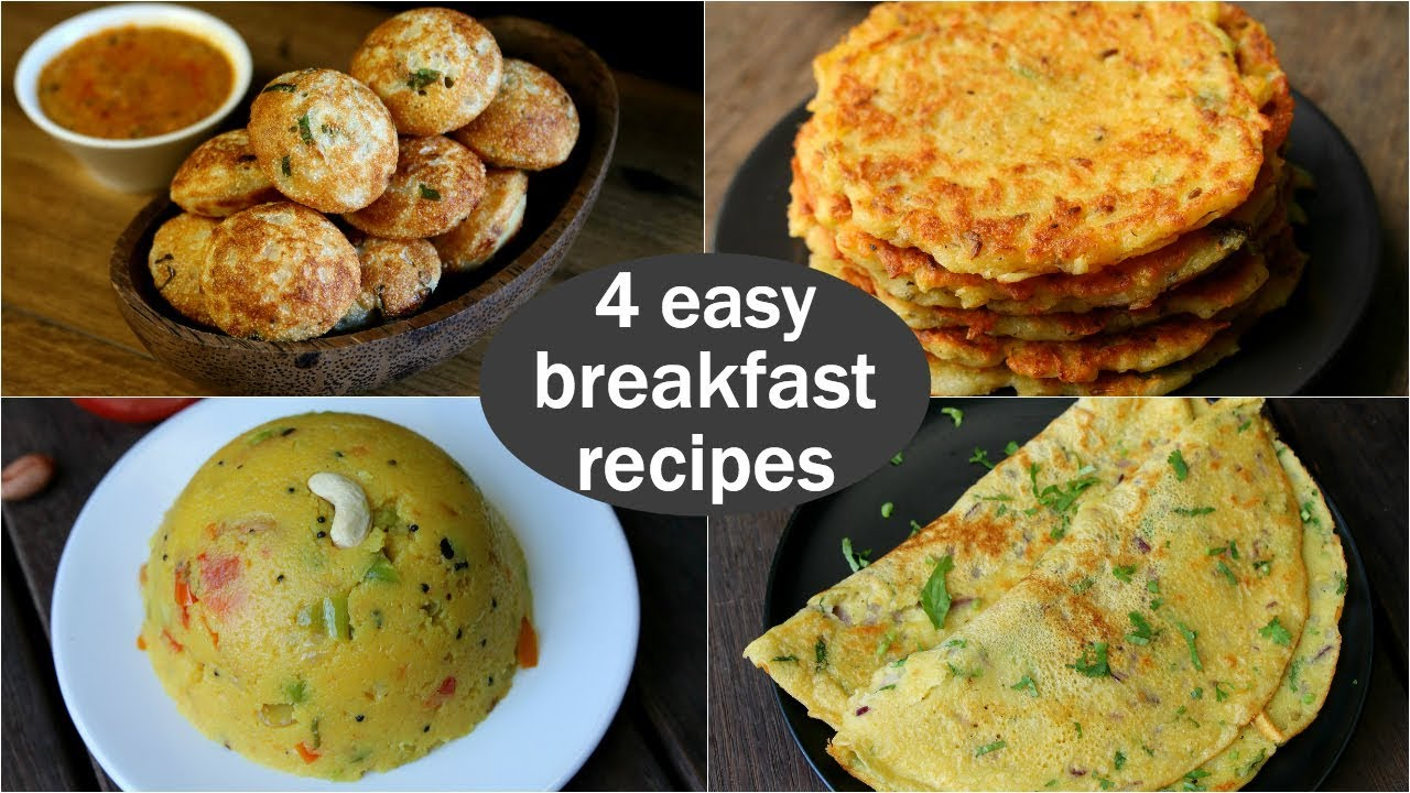 4 Easy Veg Breakfast Recipes Quick Healthy Breakfast Ideas