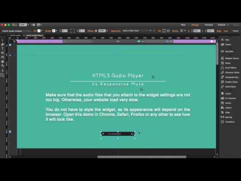 Free HTML5 Audio Player Adobe Muse Widget