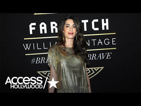 Amal Clooney Is Stunning In A Vintage Versace Metallic Dress | Access Hollywood