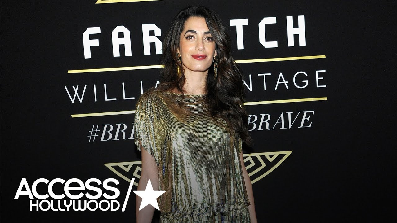 The dress access - Amal Clooney Is Stunning In A Vintage Versace Metallic Dress Access Hollywood