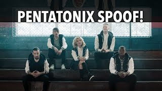 "Pentatonix ""Cheerleader"" Spoof Parody"