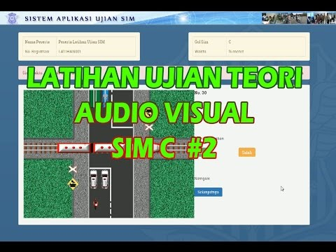 Latihan ujian SIM C audio visual #2