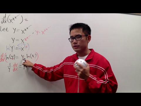 derivative of x^x^x^...