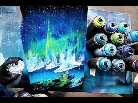 Northern Lights - SPRAY PAINT ART by Skech Mp3