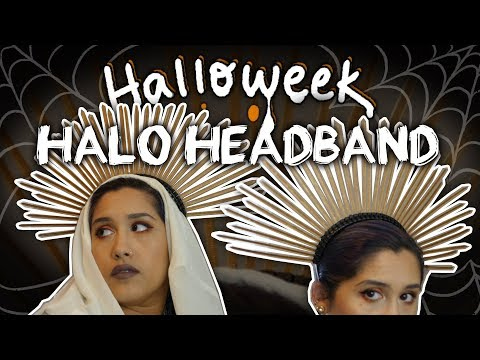How to Make Halo Headband - DIY ✧Halloweek 2018✧
