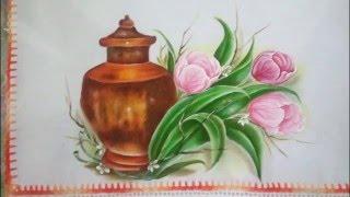 Veja como pintar um jarro de cobre