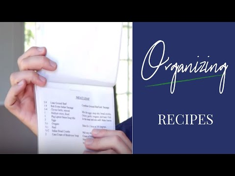 3 Ideas To Organize Recipes
