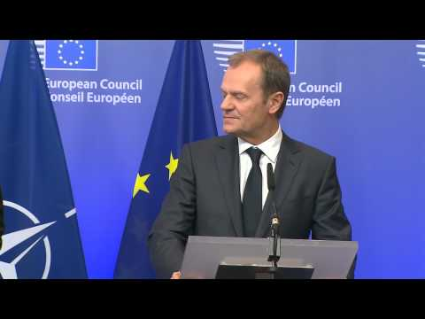 NATO Secretary General with President of the European Council, Donald Tusk