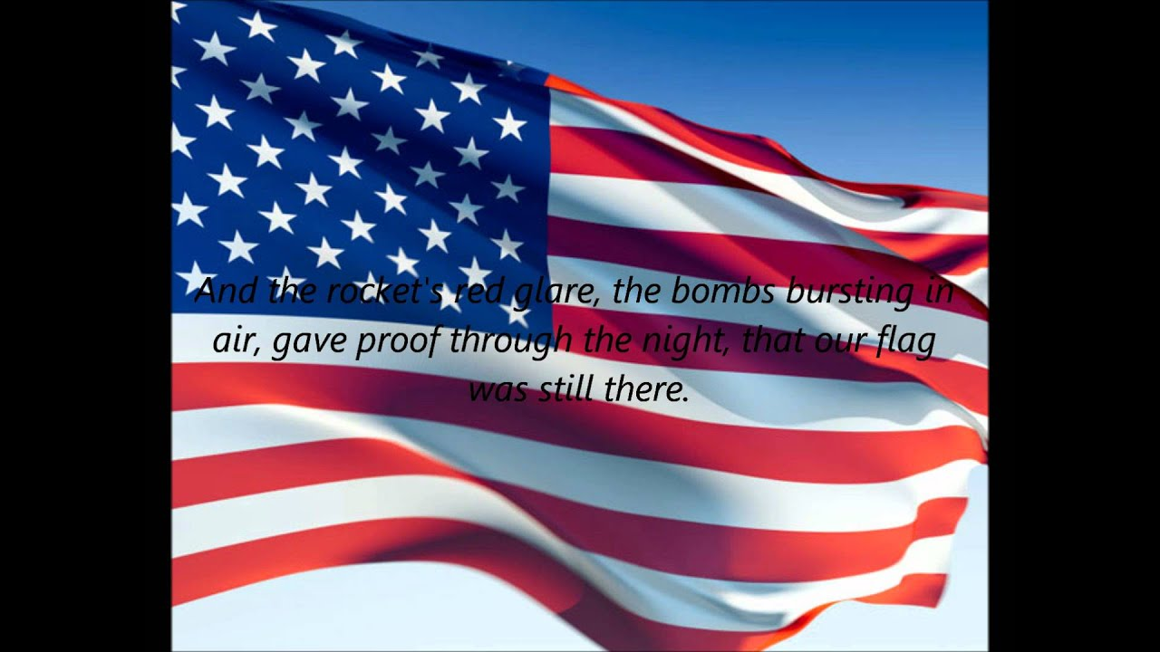 American National Anthem The Star Spangled Banner EN YouTube - States of america song youtube