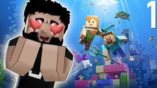 Lets Play Minecraft - Episode 1 - Life Is Hard in Minecraft 1.13 Update Aquatic!