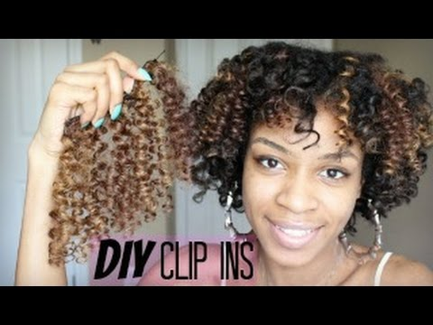 How to make diy curly clip in hair extensions for natural hair youtube how to make diy curly clip in hair extensions for natural hair solutioingenieria Image collections