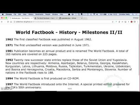 The World Factbook - Explore the World with Free Open Public Domain Datasets
