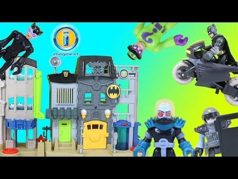 Imaginext Gotham City Center Playset Batman and the Justice League Take Down Banes Villains