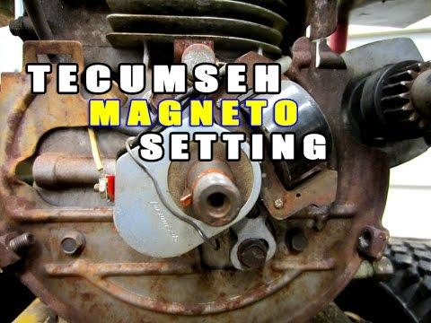 Tecumseh Ignition Magneto Setting  Tips - YouTube