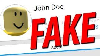 JOHN DOE IS FAKE!! (Roblox)