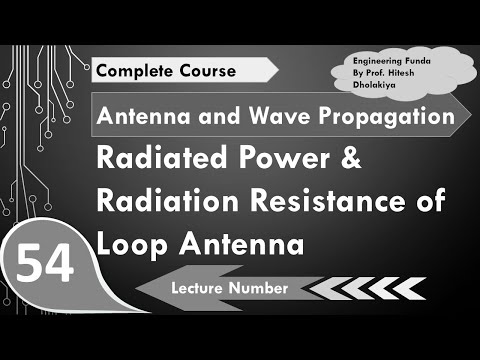 Radiated Power and Radiation Resistance of Loop Antenna in Antenna by Engineering Funda