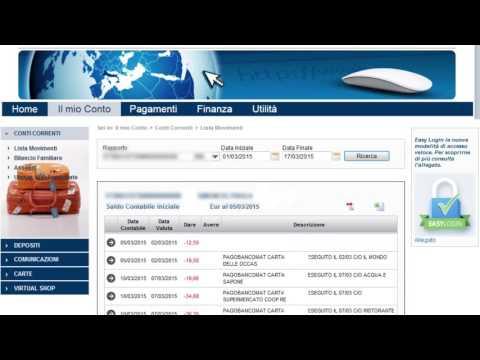 Demo internet banking UnipolBanca