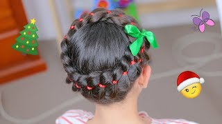 Christmas Crown Hairstyle