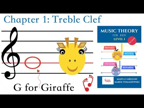 Music Theory Book for Kids Level 1   Treble Clef Chapter 1