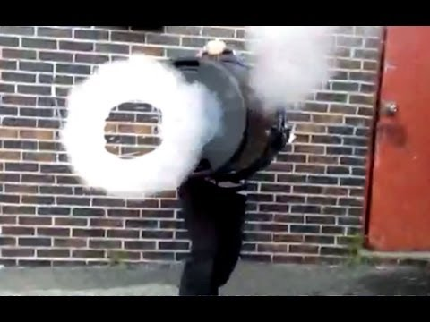 Giant Fog Ring Cannon Launcher - Make Your Own