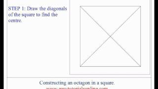 Drawing an octagon in a given square
