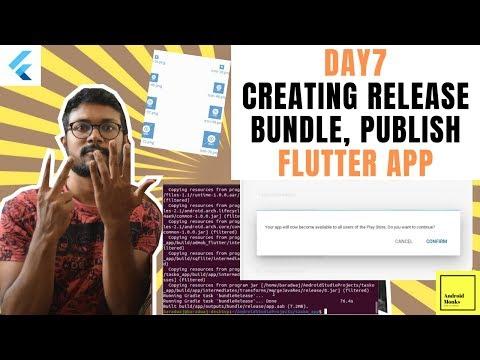 Build Flutter Release Apk, Publish Flutter App | Flutter App In 7 Days