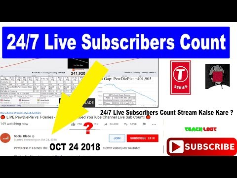 24/7 Live Subscribers Count Stream Kaise Kare ? Mp3