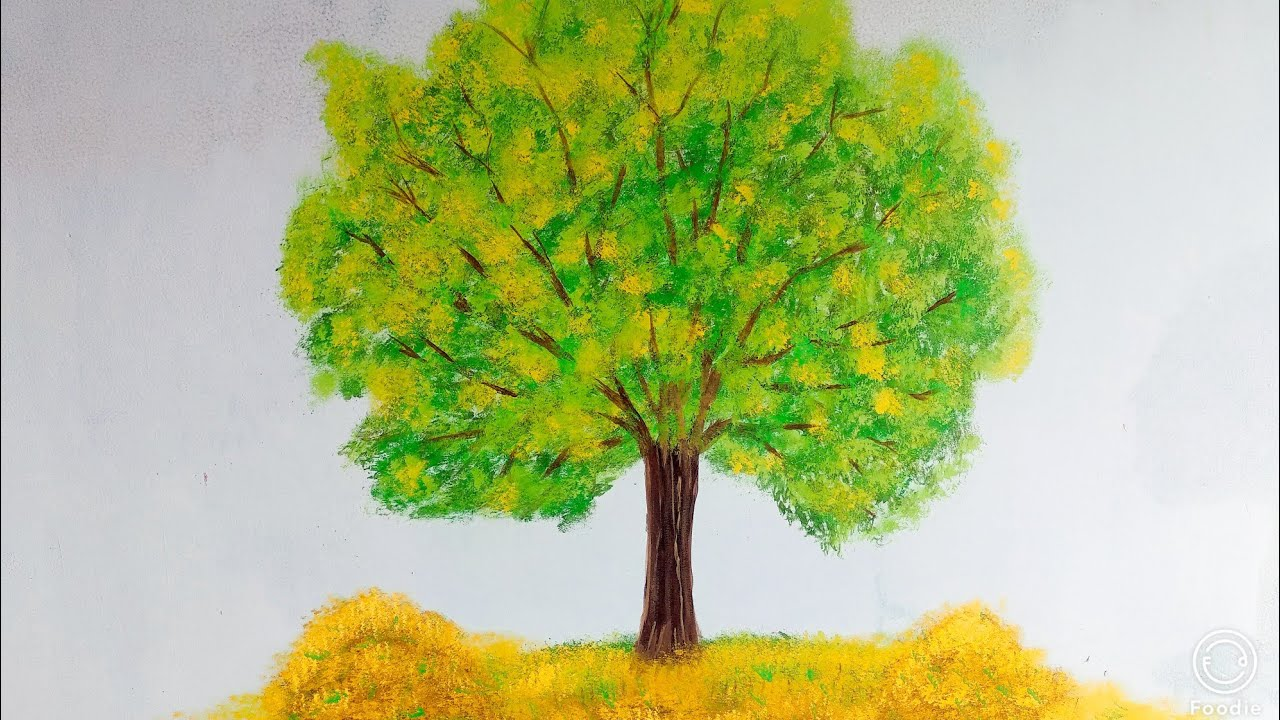 Wall Painting Water Paint Tree Design Art Technique
