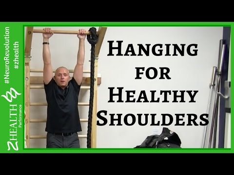 Hanging by my arms helps my shoulder pain