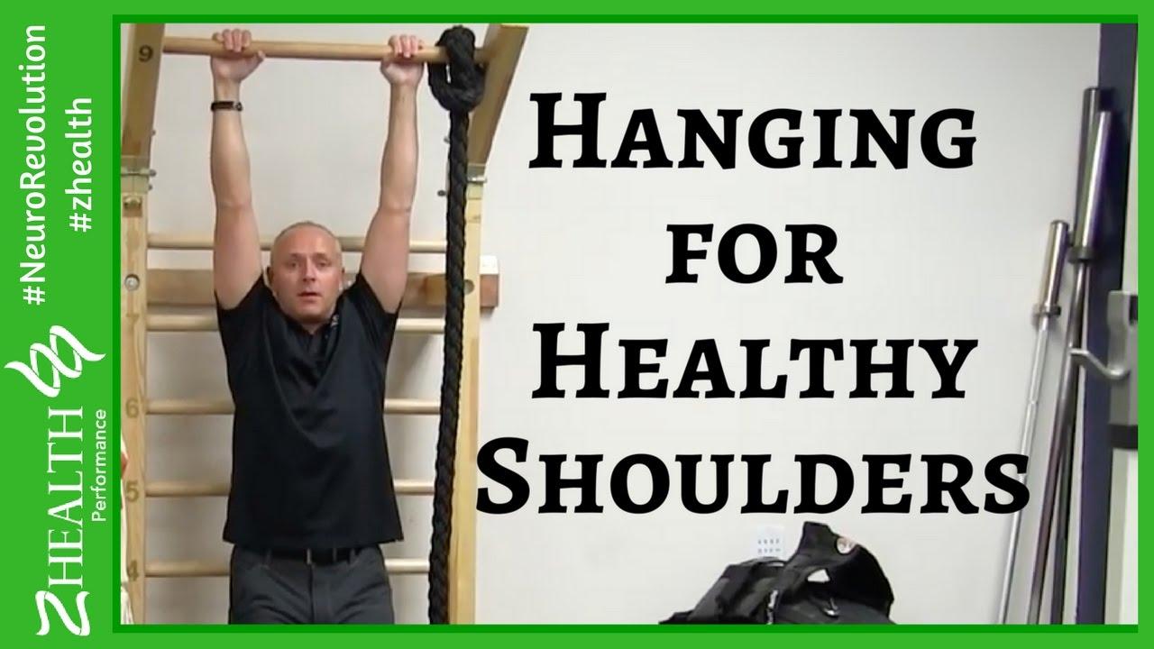 Shoulder pain relief: Hanging for Healthy Shoulders