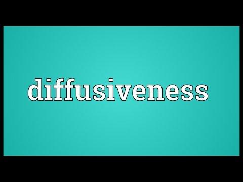 Header of diffusiveness