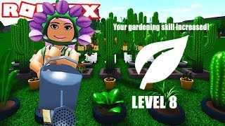 REACHING LEVEL 8 IN GARDENING ON BLOXBURG - France Version 0.7.6 Roblox