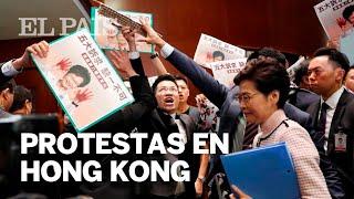 La oposición bloquea el discurso de Lam sobre el estado de Hong Kong