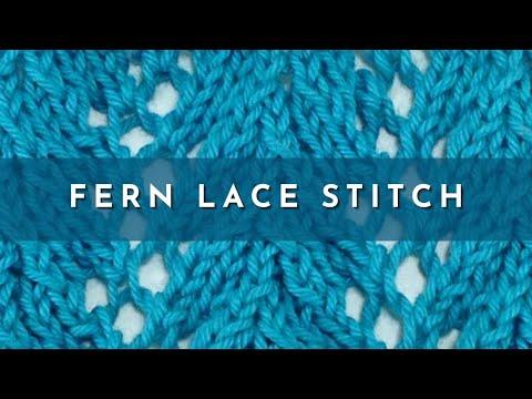 Fern Lace Stitch English Style Youtube