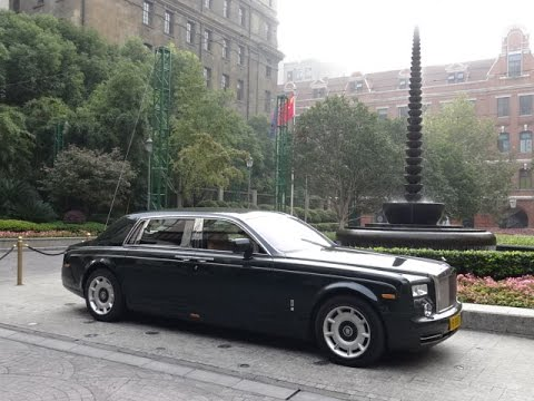 Rolls Royce Phantom - Shanghai PVG Airport to The Peninsula Hotel, Shanghai, China