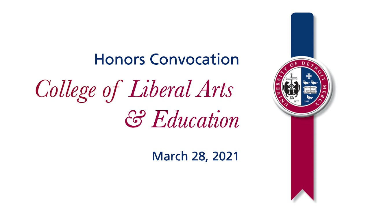 Dean of Detroit Mercy's College of Liberal Arts & Education 2021 Honors & Awards