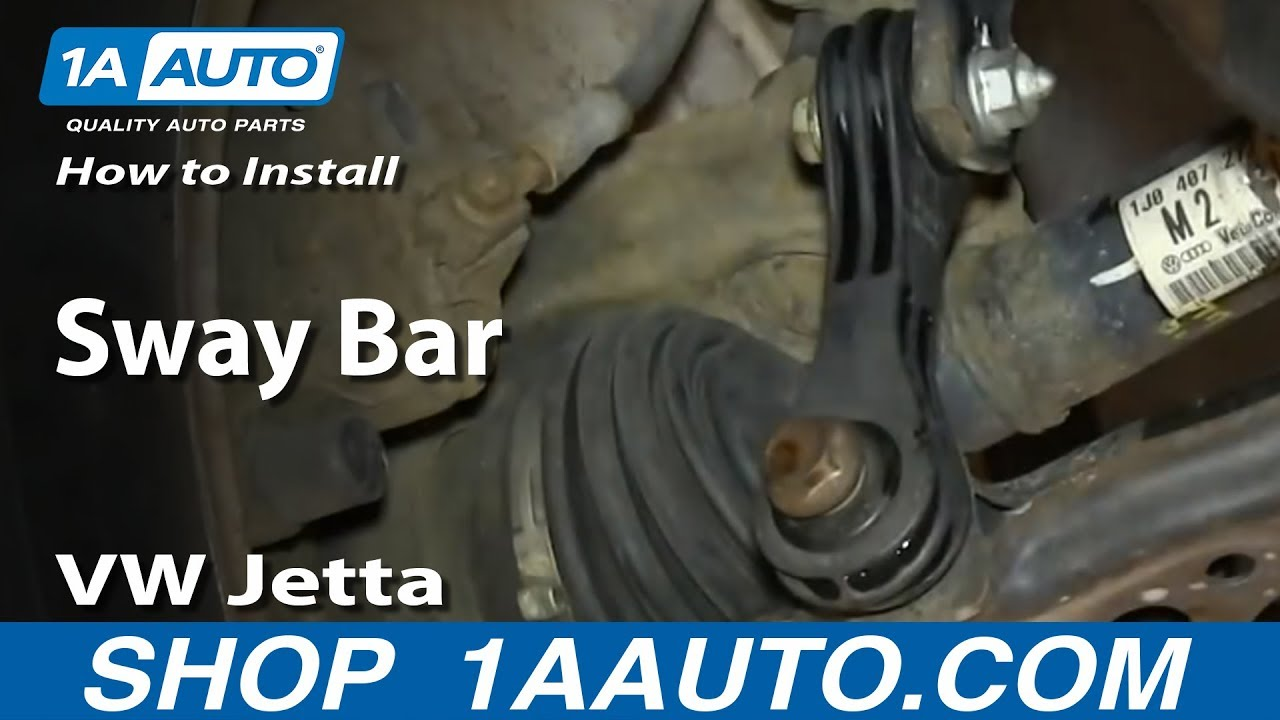 How To Install Replace Sway Bar Link 1999 06 Vw Jetta And