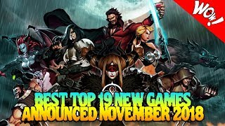 BEST TOP 19 NEW GAMES ANNOUNCED NOVEMBER 2018 PS4 | Xbox One | Switch | PC