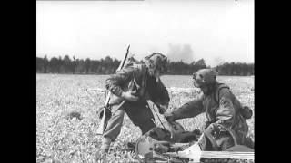 Battle of Arnhem   British Gliders Shot at by SS 1944