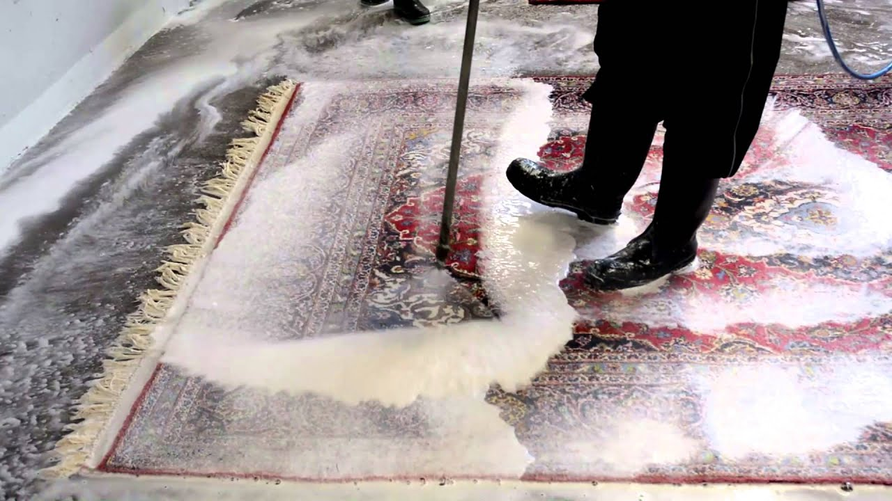 Babayans Carpet Cleaning Power Wash Procedure - YouTube