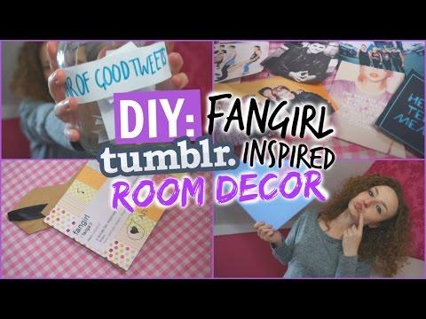 DIY FANGIRL TUMBLR INSPIRED ROOM DECOR!