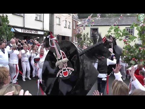 Padstow May Day Celebrations 2017, The Obby Oss's ending the day around the Maypole