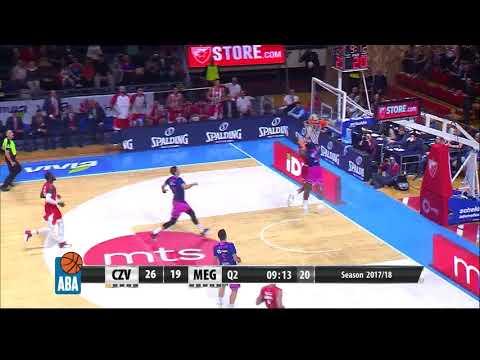 Dylan Ennis is a new basketball gem of Mega Bemax (Crvena zvezda mts - Mega Bemax, 4.10.2017)