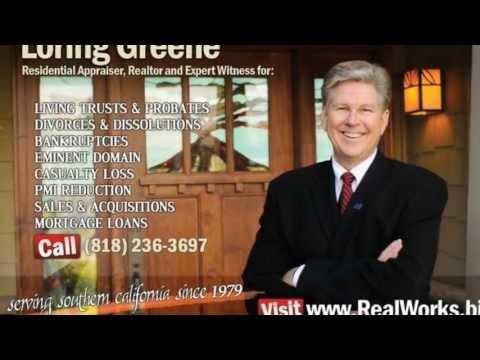 Loring Greene, State Certified Appraiser in Los Angeles CA 818-236-3697