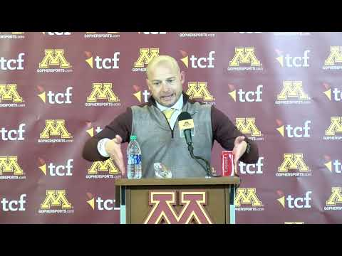 press-conference:-p.j.-fleck-on-gophers'-win-vs.-#5-penn-state