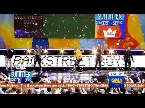 "Backstreet Boys Perform ""I Want It That Way""  (GMA Live Concert)"