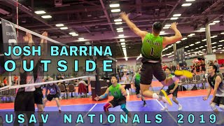 Josh Barrina - Outside Hitter Highlights | USAV Nationals 2019