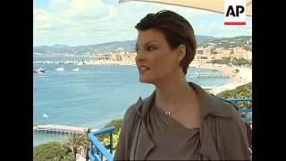 Supermodel Linda Evangelista  makes a flying visit to Cannes