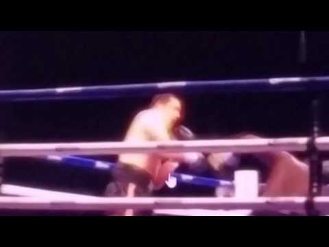 Bermane Stiverne Dropped By Derric Rossy (Footage)